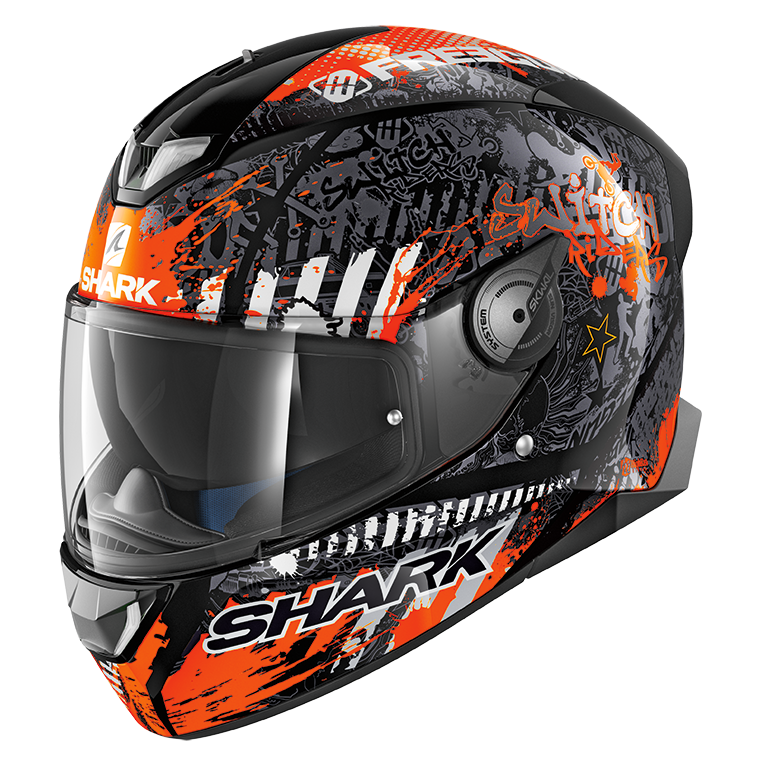 Shark Skwal 2 Switch Rider 2 - Schwarz / Weiss / Orange