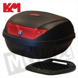 KM Top Koffer 51L - Rote Reflektoren