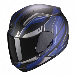 Scorpion EXO 390 Boost - Matt Schwarz/Silber/Blau