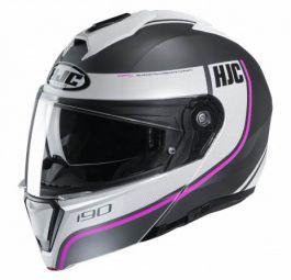 HJC I90 Davan - Matt Schwarz / Weiß / Rosa