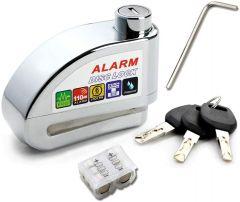 Vinz Elbroes Bremsscheibenschloss 6mm mit Alarm 110db Universalschloss für Scheibenbremsen von Roller und Motorrädern Frontansicht