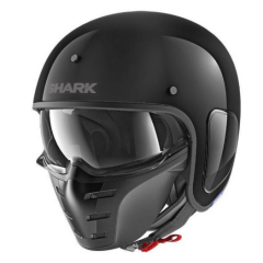 hark Jethelm S-Drak Blank - Zwart 2
