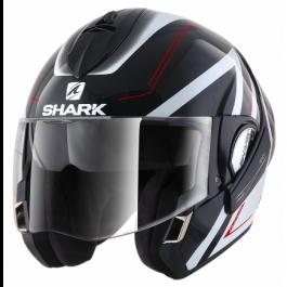 Shark Evoline 3 Hyrium - Schwarz / Weiß / Rot
