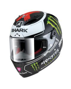 Shark RACE-R Integraalhelm - Lorenzo Monster / Mat Zwart / Wit / Rood